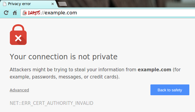 not trusted ssl pic